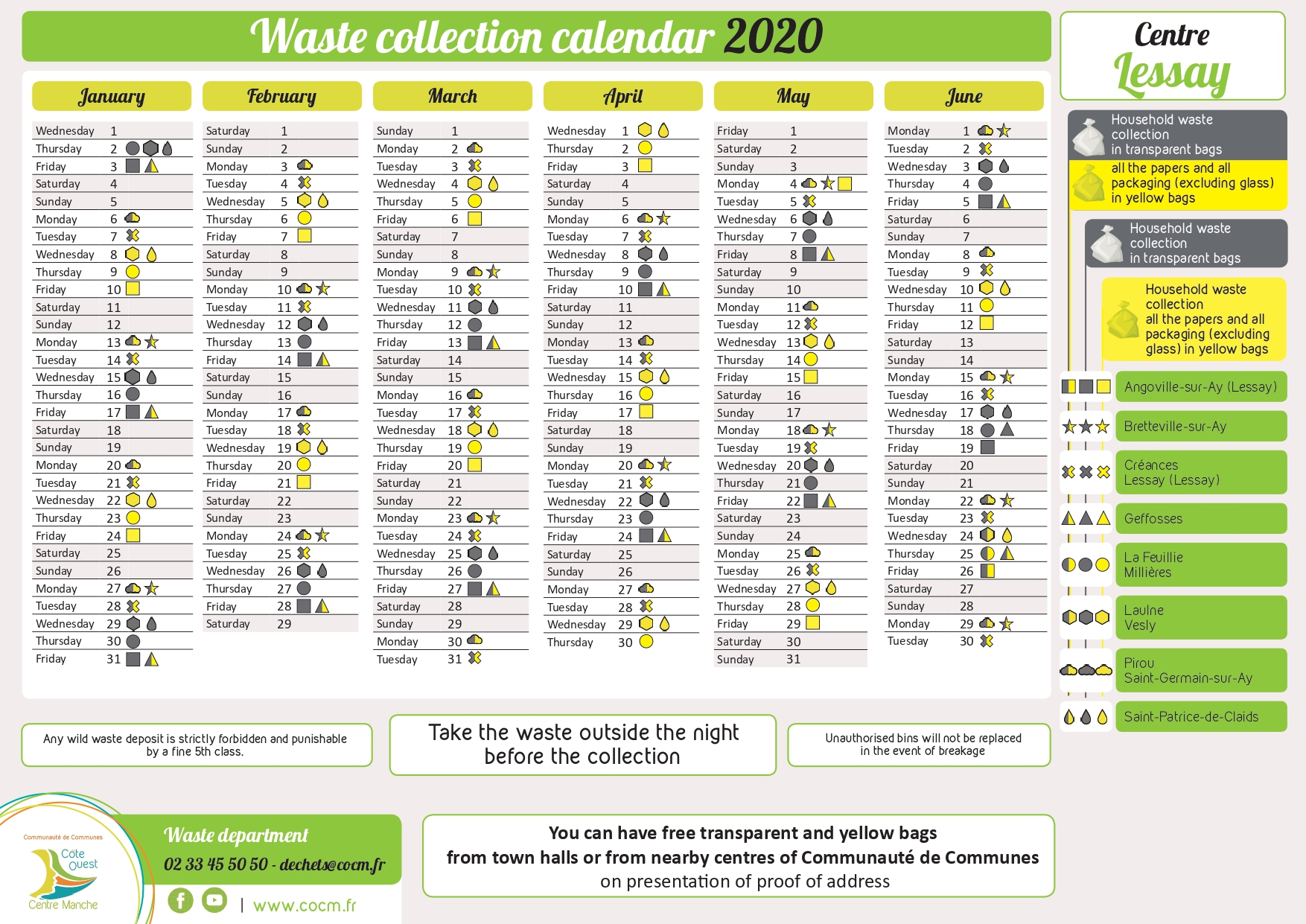 Calendrier 2020   Lessay   OFFICIEL Anglais v2 page 0001